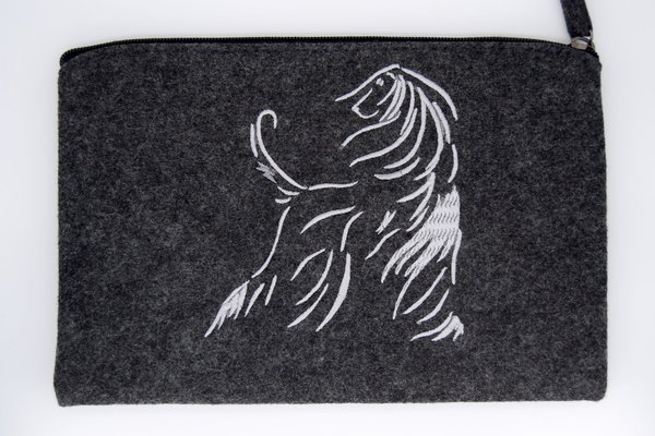 "Pouch ""Afghan Design Line, silber"""