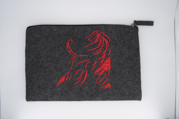 "Pouch ""Afghan Design Line, rot"""